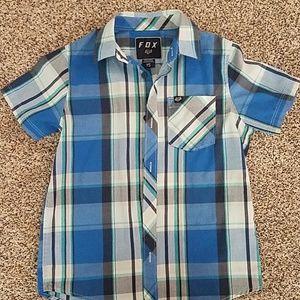 Boys Fox brand button up shirt